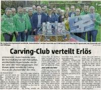 Carving Club spendet Erlös, Halterner Zeitung im April 2018