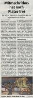 AG 78 Mitmachzirkus hat noch Plätze frei, Halterner Zeitung im September 2018