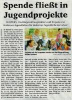 Jugendprojekte in Haltern, Halterner Zeitung im Juli 2018