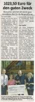 Jupp's Erlebnisgarten spendet, Halterner Zeitung April 2018