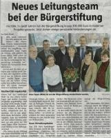 Neues Leitungsteam in der Bürgerstiftung (Halterner Zeitung im Januar 2019)
