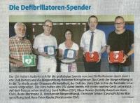 Die Defibrillatoren-Spender (Halterner Zeitung im September 2019)