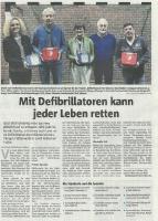 Mit Defibrillatoren kann jeder Leben retten - Halterner Zeitung im Januar 2020