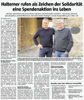 Spendenaktion von Halterner Bürger und Bürgerstiftung - Halterner Zeitung im April 2020