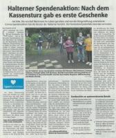 Halterner Spendenaktion - Halterner Zeitung im Mai 2020