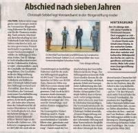 Abschied nach sieben Jahren - Stadtspiegel Haltern im September 2020 -