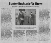 Bunter Rucksack für Eltern - Stadtspiegel im März 2021 -
